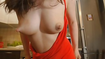Lactating Teen Brunette Homemade