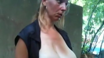 Amateur Flashing Pregnant Cum In Mouth
