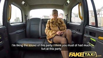 Amateur fake in taxi fucks british words... super, excellent